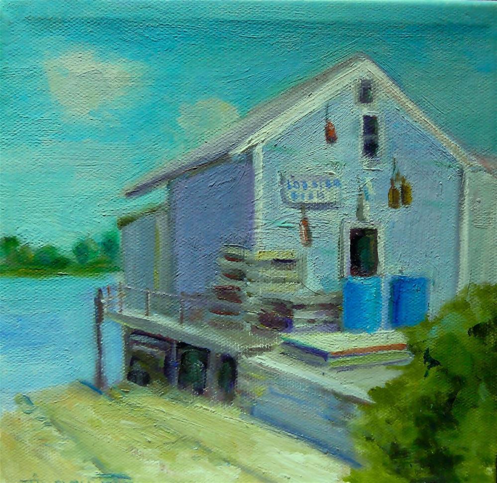 """Lobster House"" original fine art by Teresa Idelowitz"