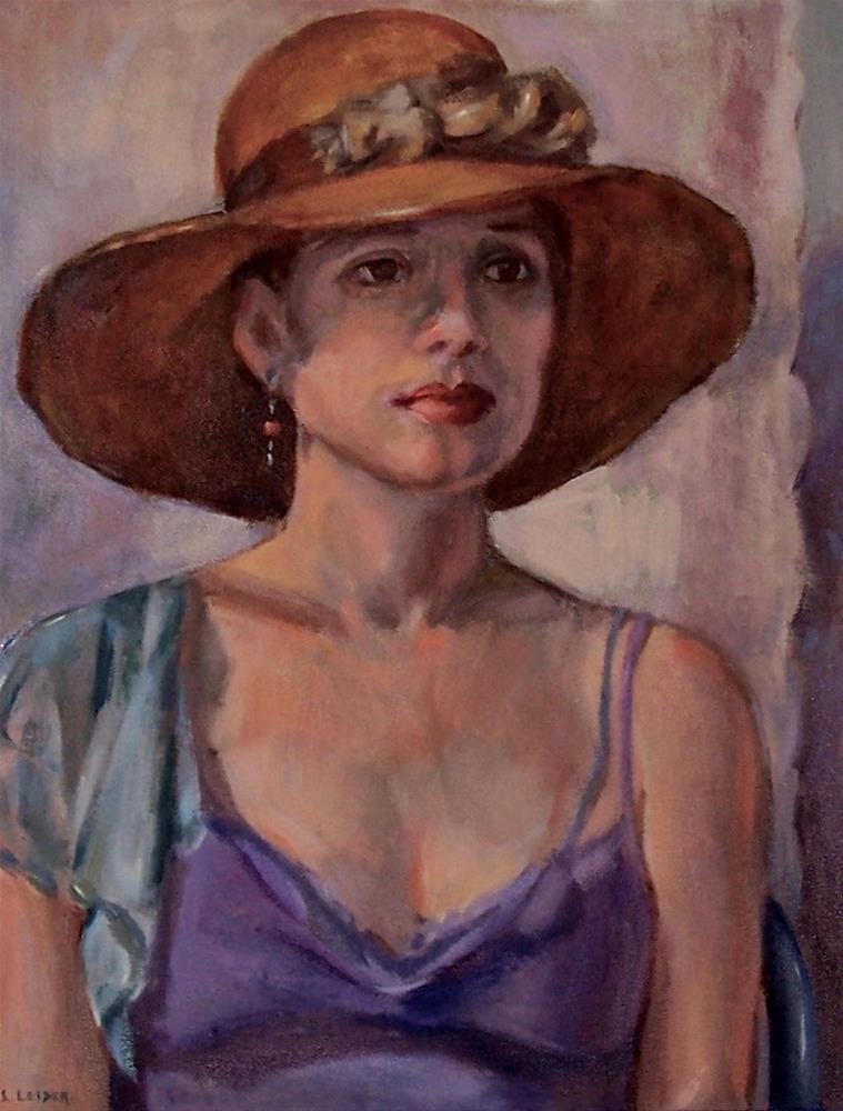 """""""Straw Hat"""" original fine art by Susan Leider"""