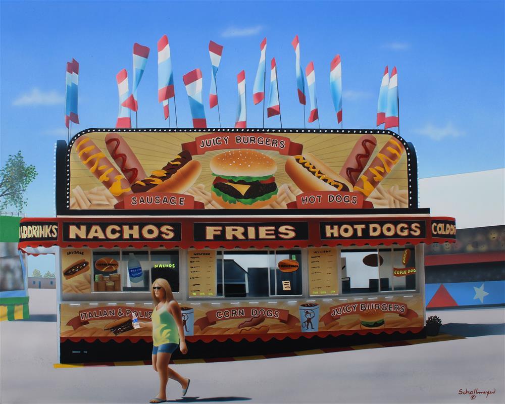 """""""Nachos, Fries & Hotdogs"""" original fine art by Fred Schollmeyer"""