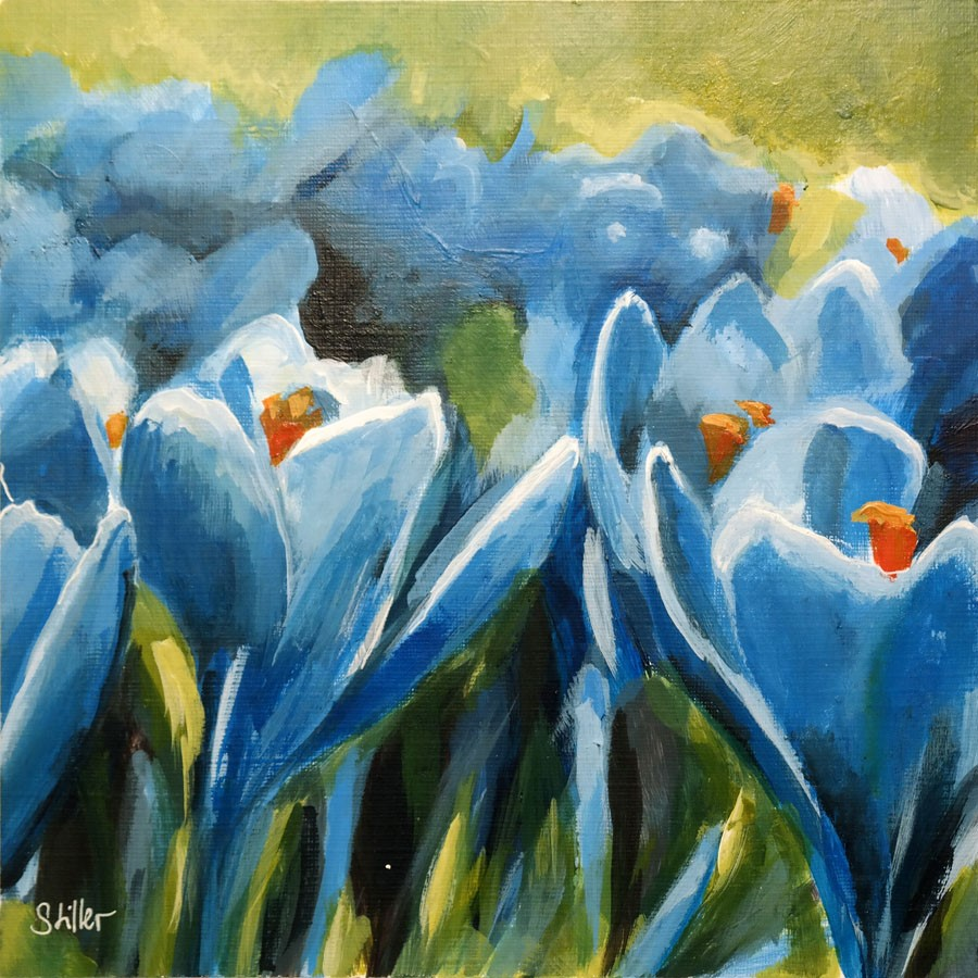 """2737 Spring Crocus"" original fine art by Dietmar Stiller"