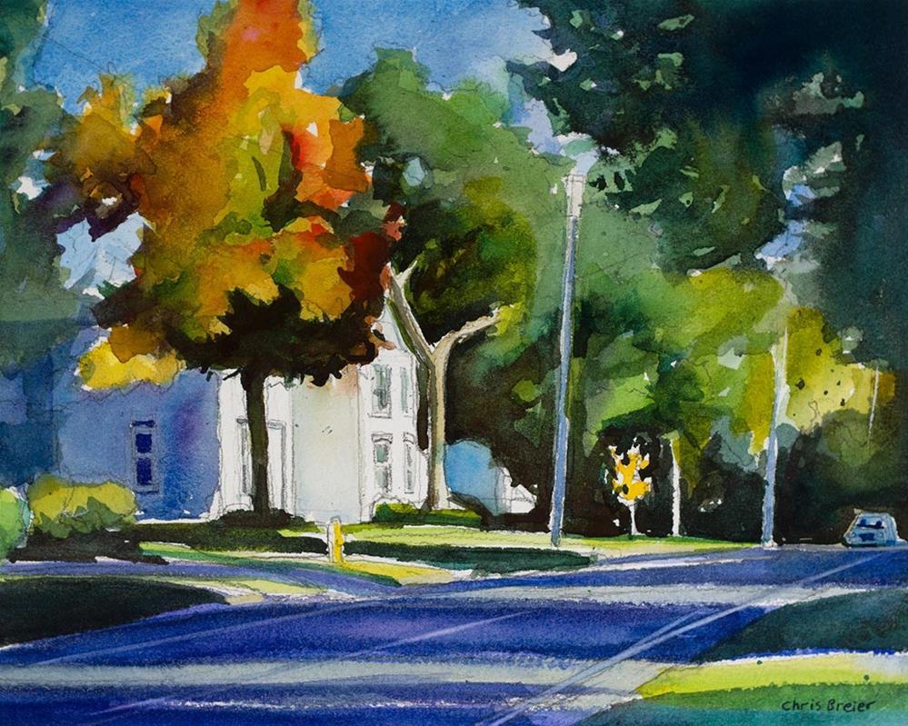 """""""South Cayuga Road"""" original fine art by Chris Breier"""