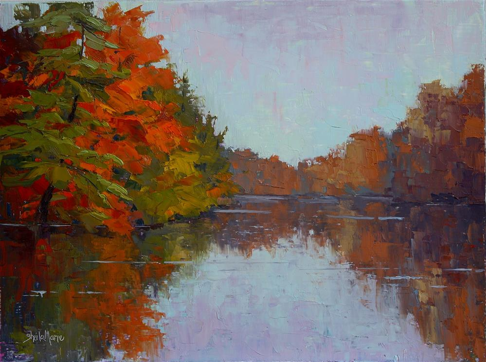 """Quiet Fall Morning"" original fine art by Sheila Marie"