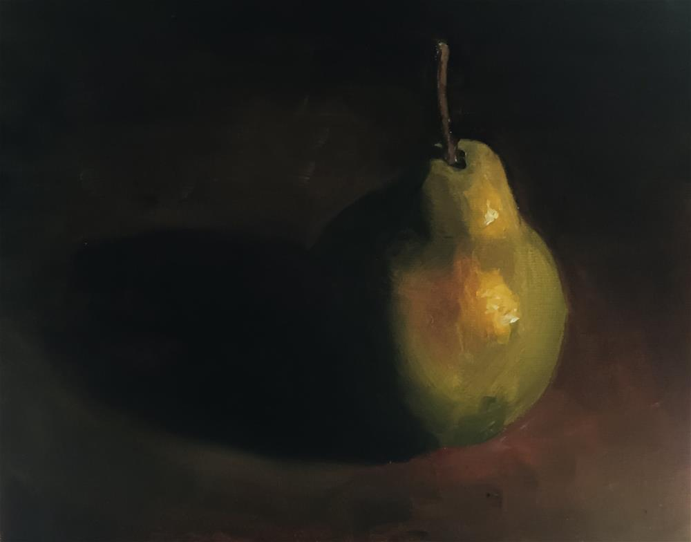 """Pear"" original fine art by James Coates"