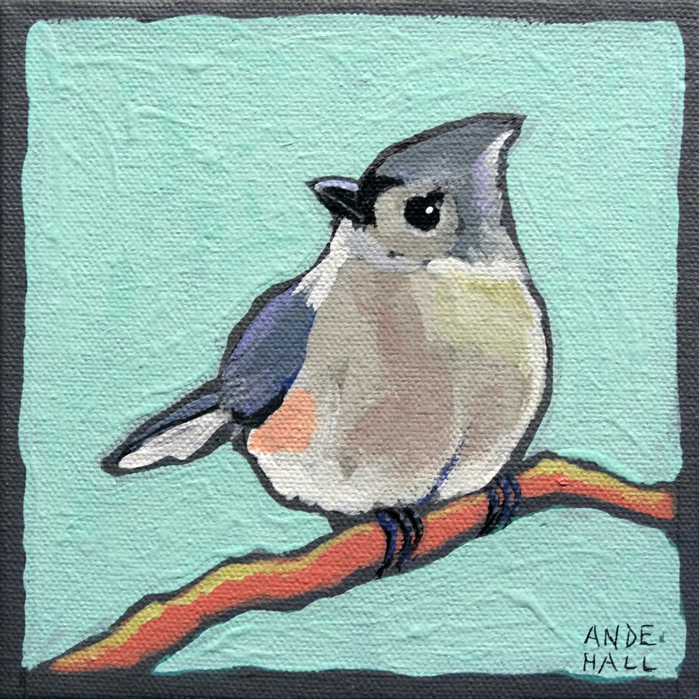 """Tufted Cuteness"" original fine art by Ande Hall"