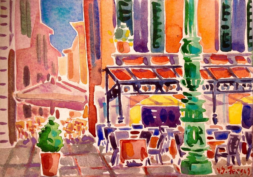 """Before the Crowds"" original fine art by Virginia Fergus"