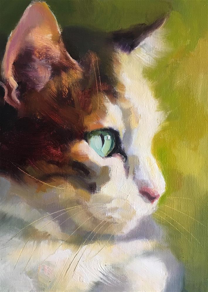 """Adopt352"" original fine art by Katya Minkina"