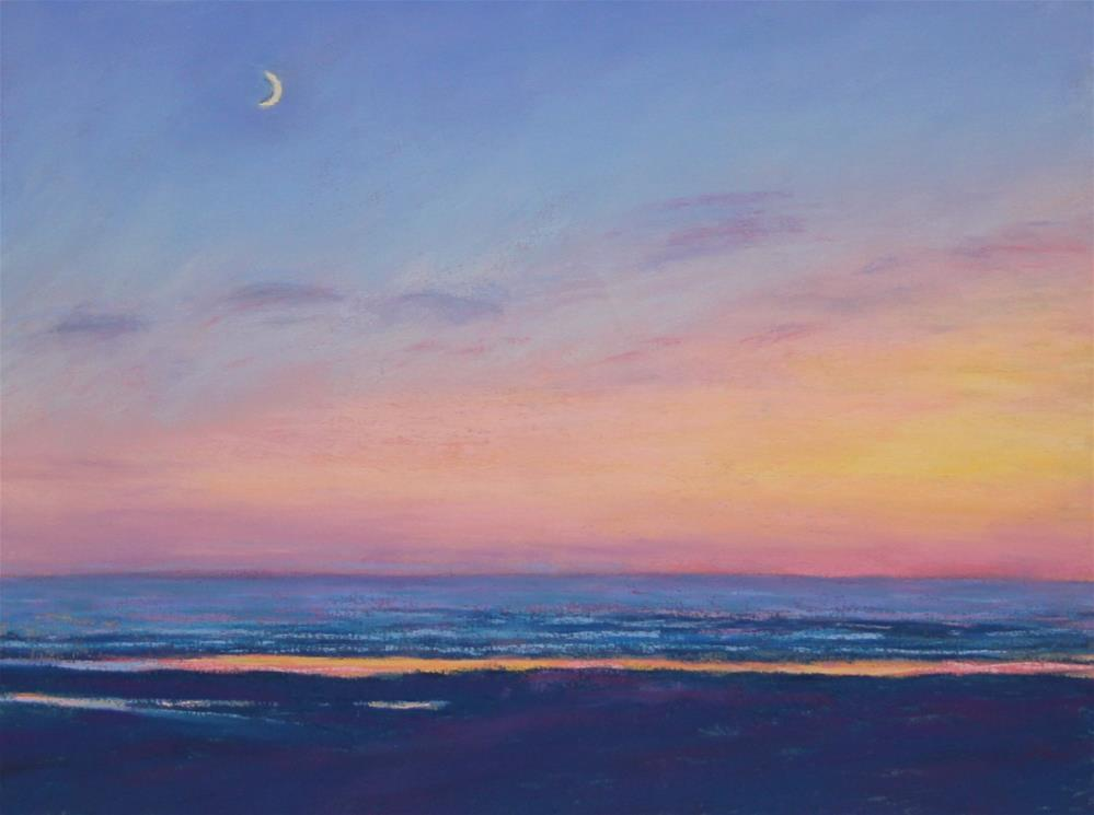 """Sunset on the Coast"" original fine art by Sharon Lewis"