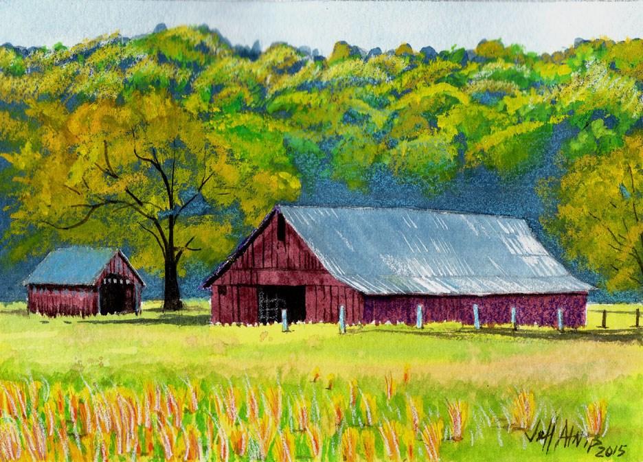 """The Back Pasture"" original fine art by Jeff Atnip"