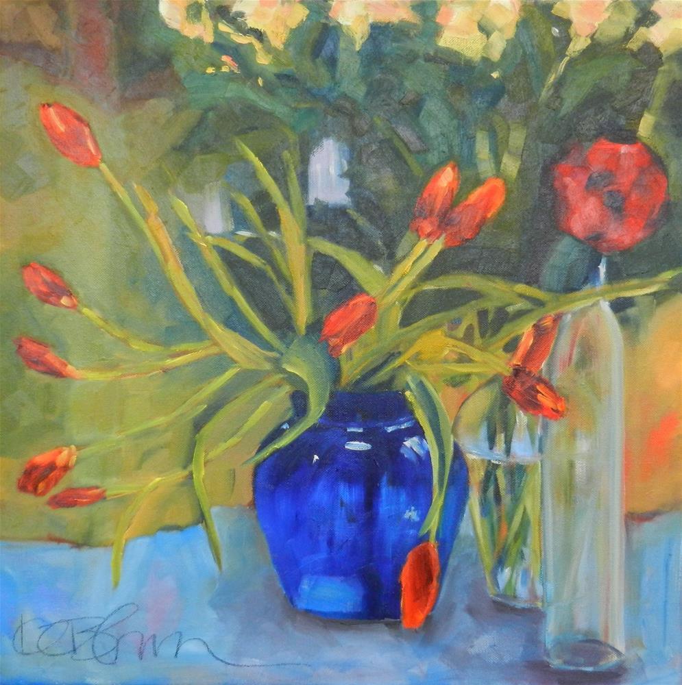 """Blue Vase"" original fine art by Kathy Broyles"