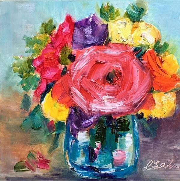 """""""Gift for You"""" original fine art by Lisa Fu"""