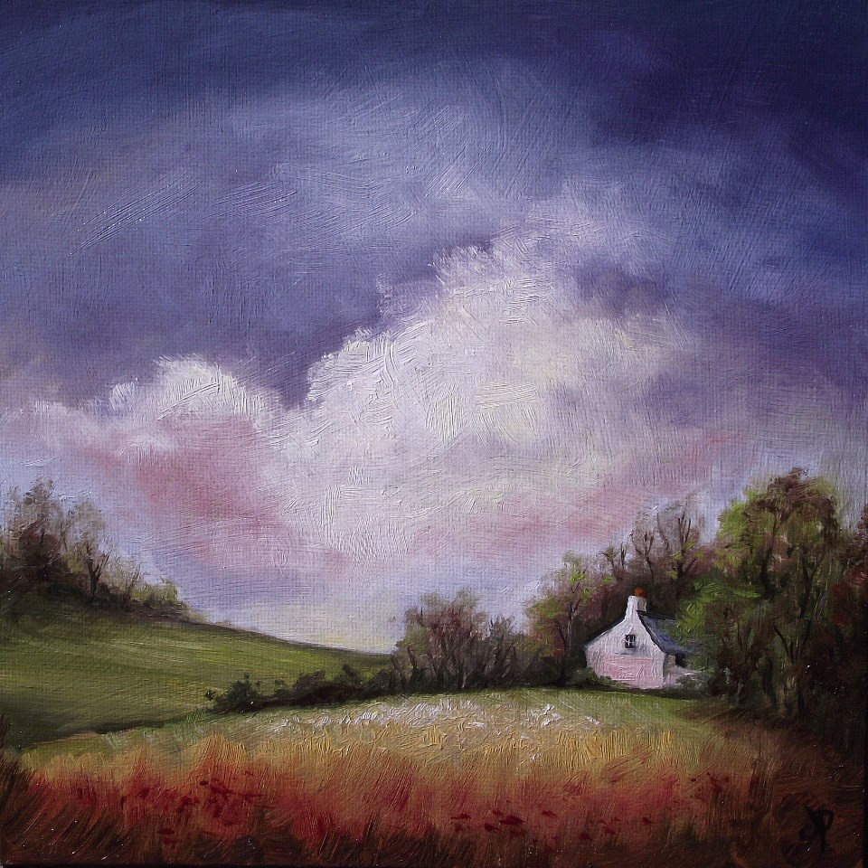 """Cottage in the trees"" original fine art by Jane Palmer"