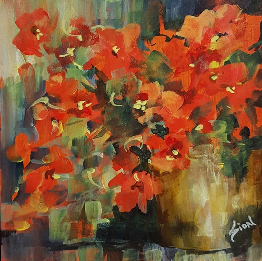 """Ms. Scarlett"" original fine art by Sue Dion"