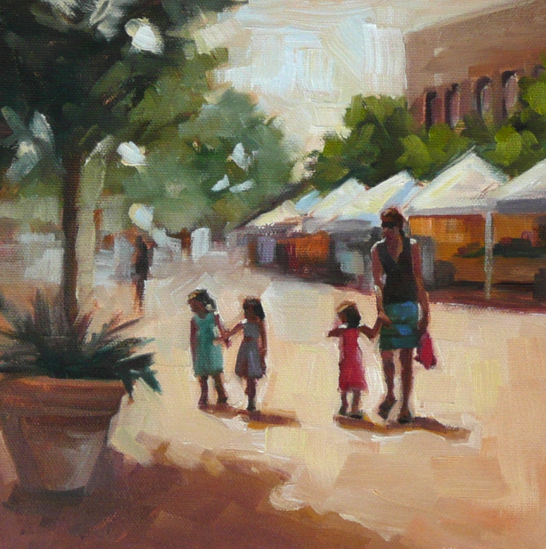 """Sunday Stroll"" original fine art by Dana Cooper"