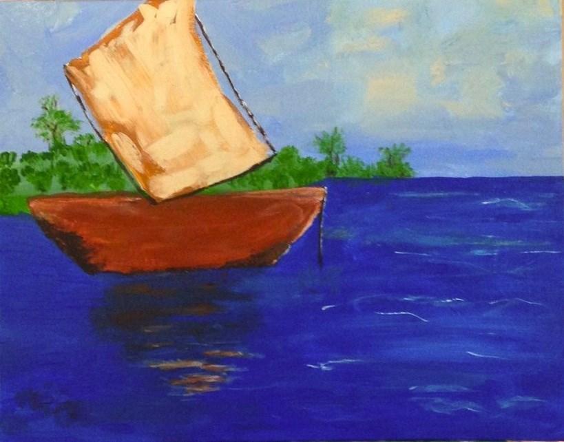 """Shadows on the water"" original fine art by Brenda Smith"
