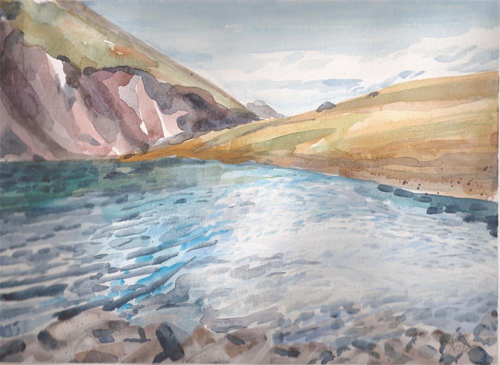 """Lower Venable Lake, Sangres de Cristo Mountains, Colorado"" original fine art by Jean Krueger"
