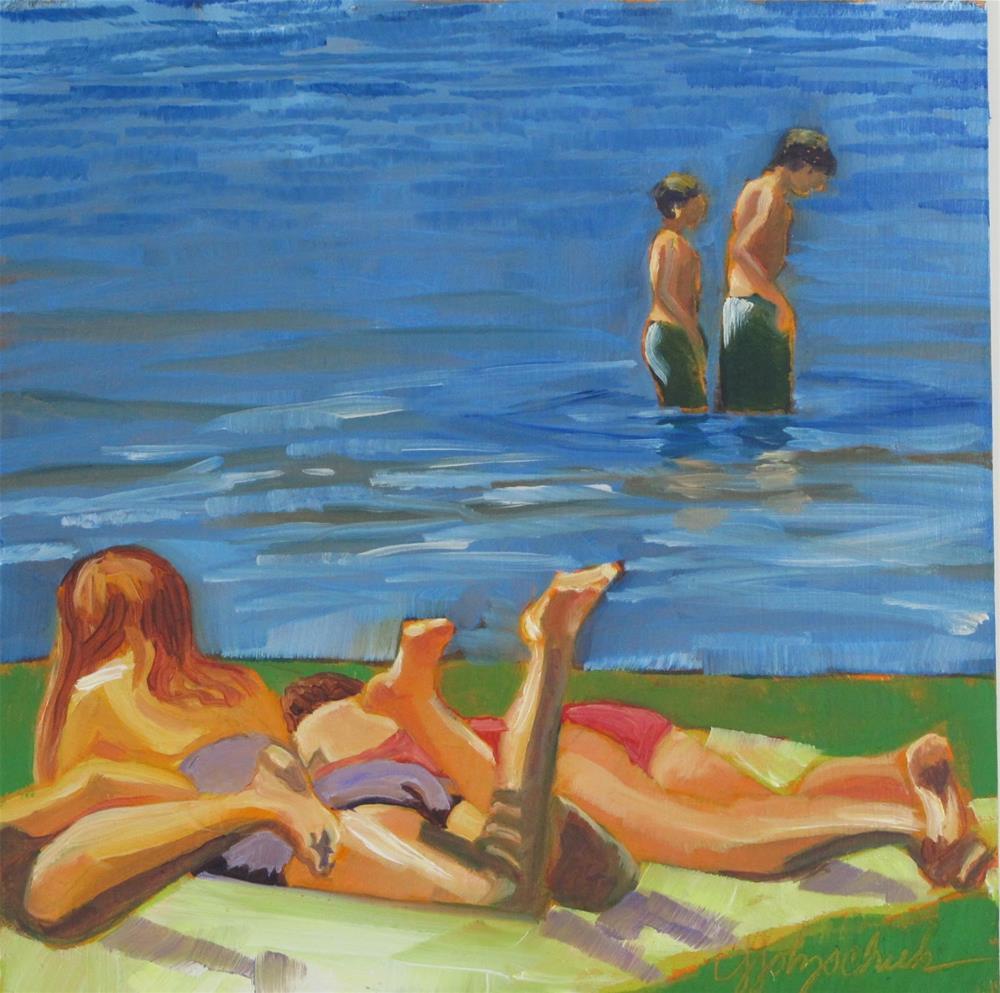 """Boys and Girls"" original fine art by Christine Holzschuh"