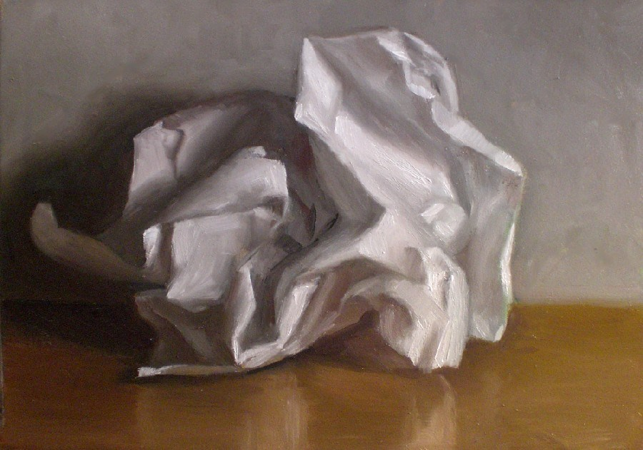 """Crumpled Paper Study"" original fine art by Debra Becks Cooper"