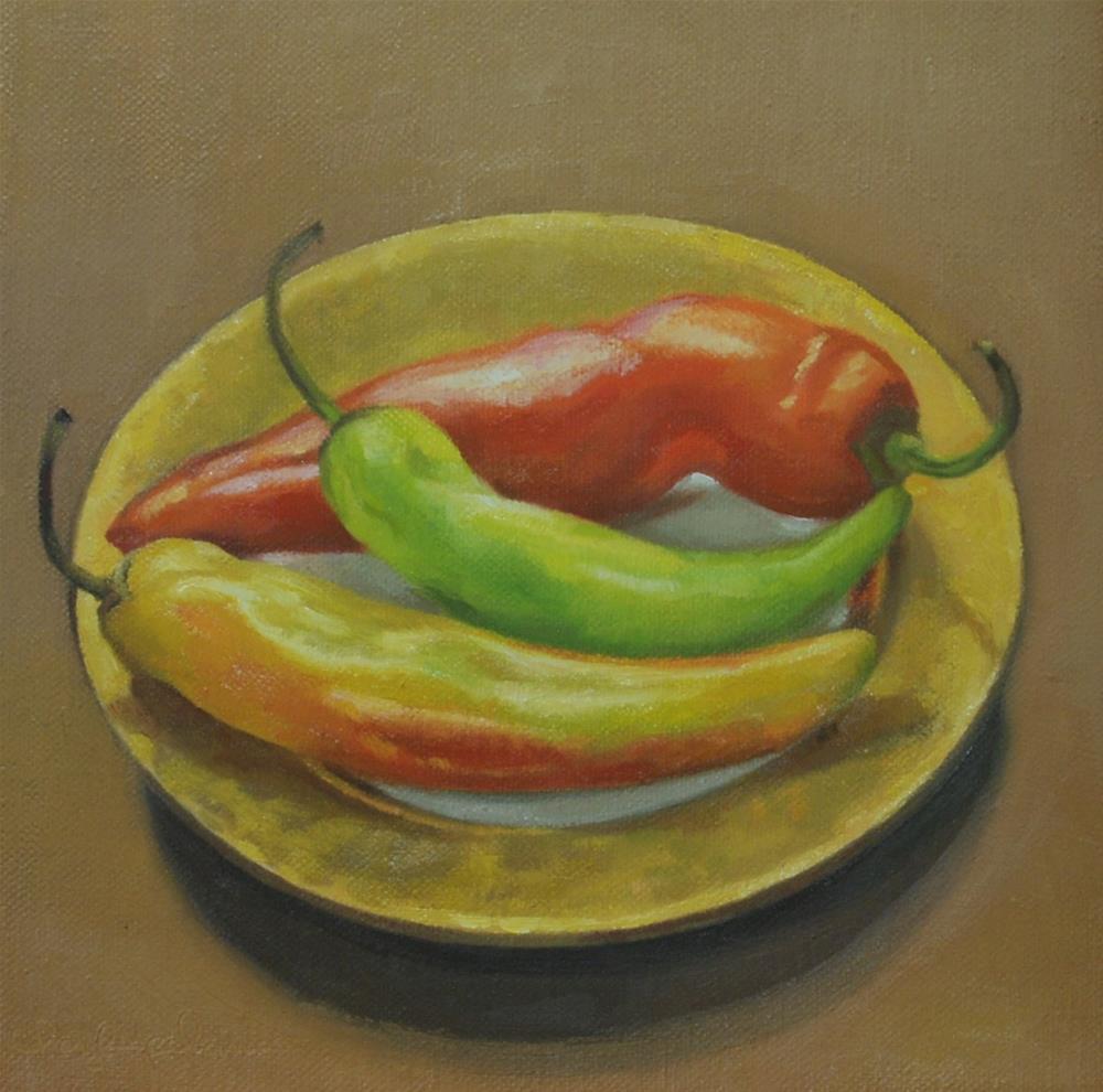 """Peppers"" original fine art by Cheryl Meehan"