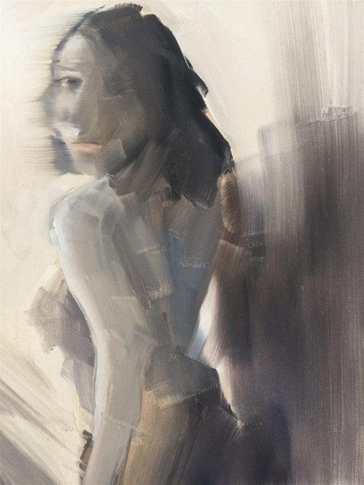 """""""460 Anja"""" original fine art by Jenny Doh"""