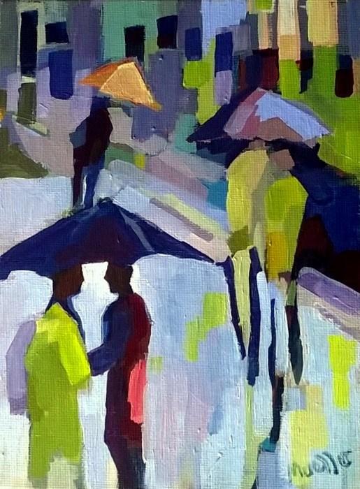 """Love Under Cover"" original fine art by Laurie Mueller"