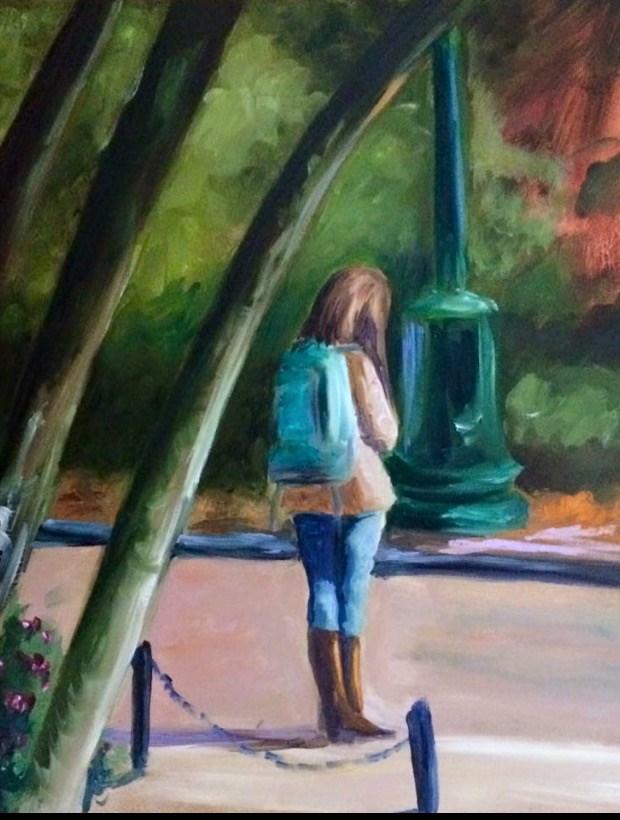 """Message Sent"" original fine art by Carol Roark"