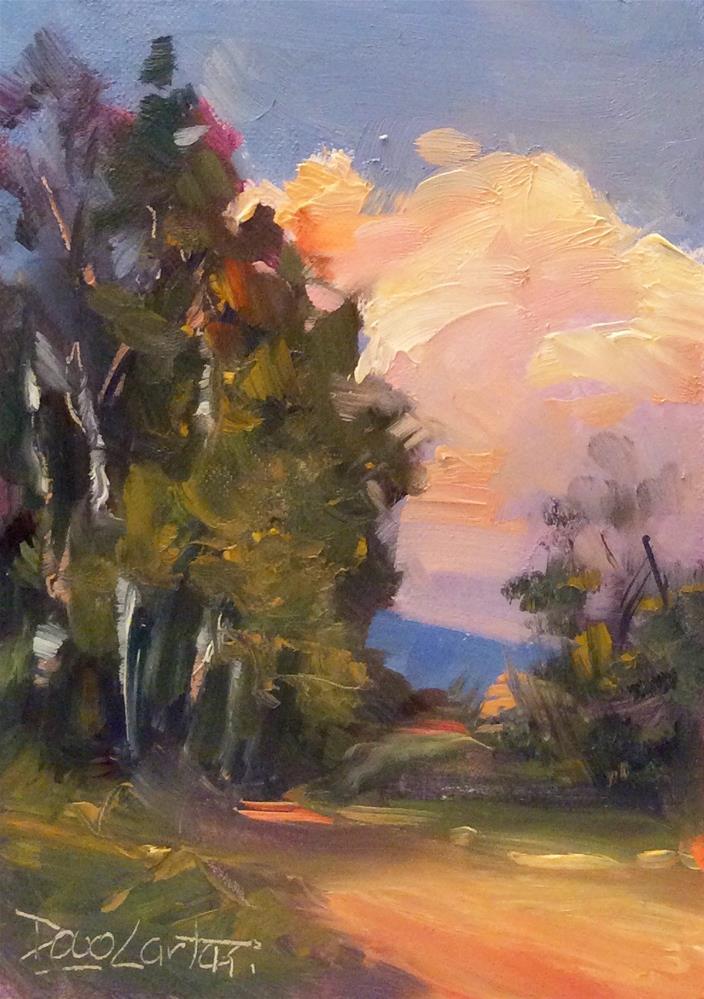 """""""SUMMER TRAILS"""" original fine art by Doug Carter"""
