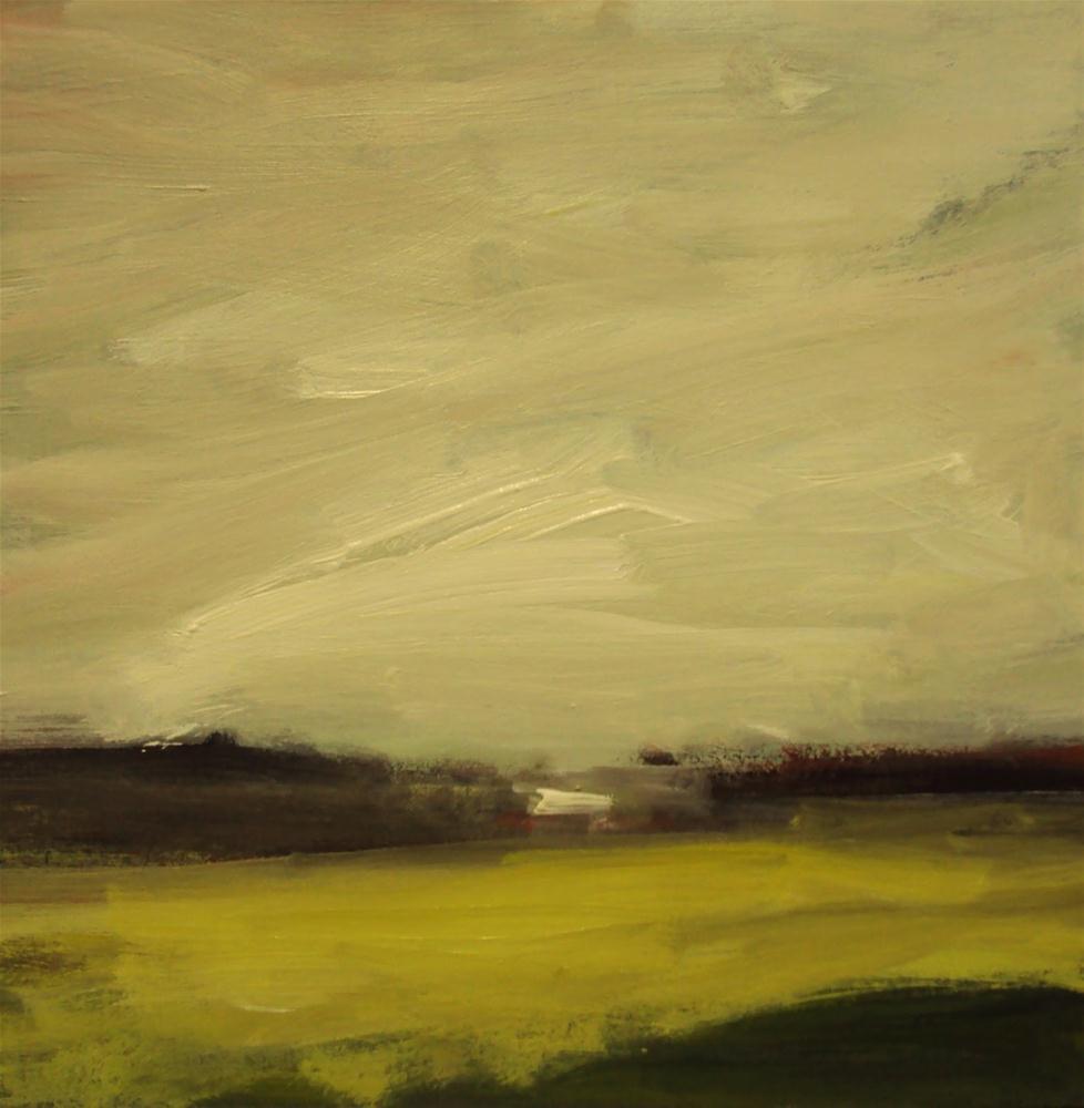 """The barn on the edge of the field"" original fine art by Parastoo Ganjei"