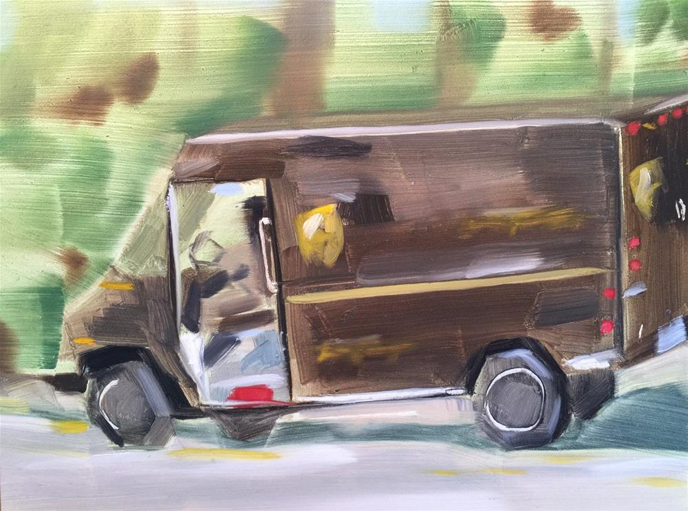 """""""271 Special Delivery"""" original fine art by Jenny Doh"""