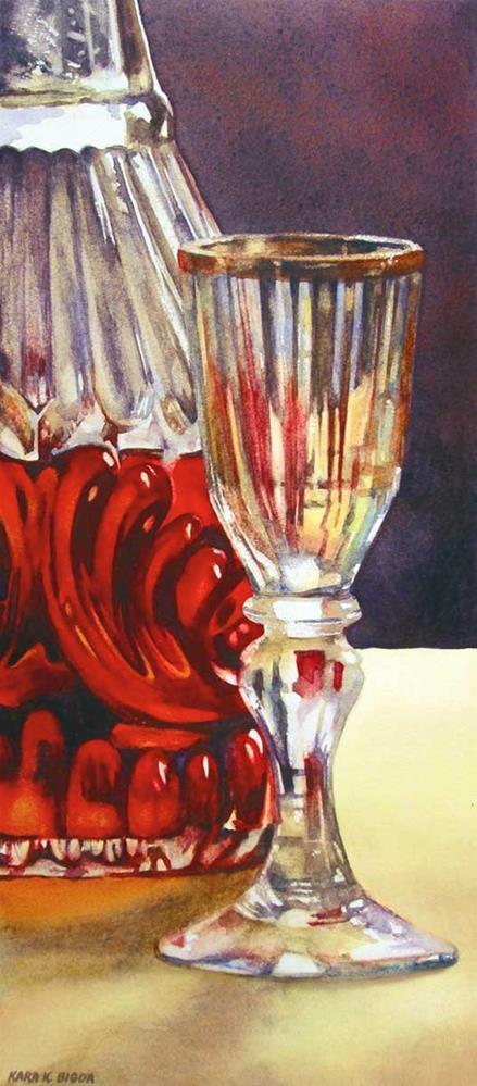 """I Drink Alone"" original fine art by Kara K. Bigda"