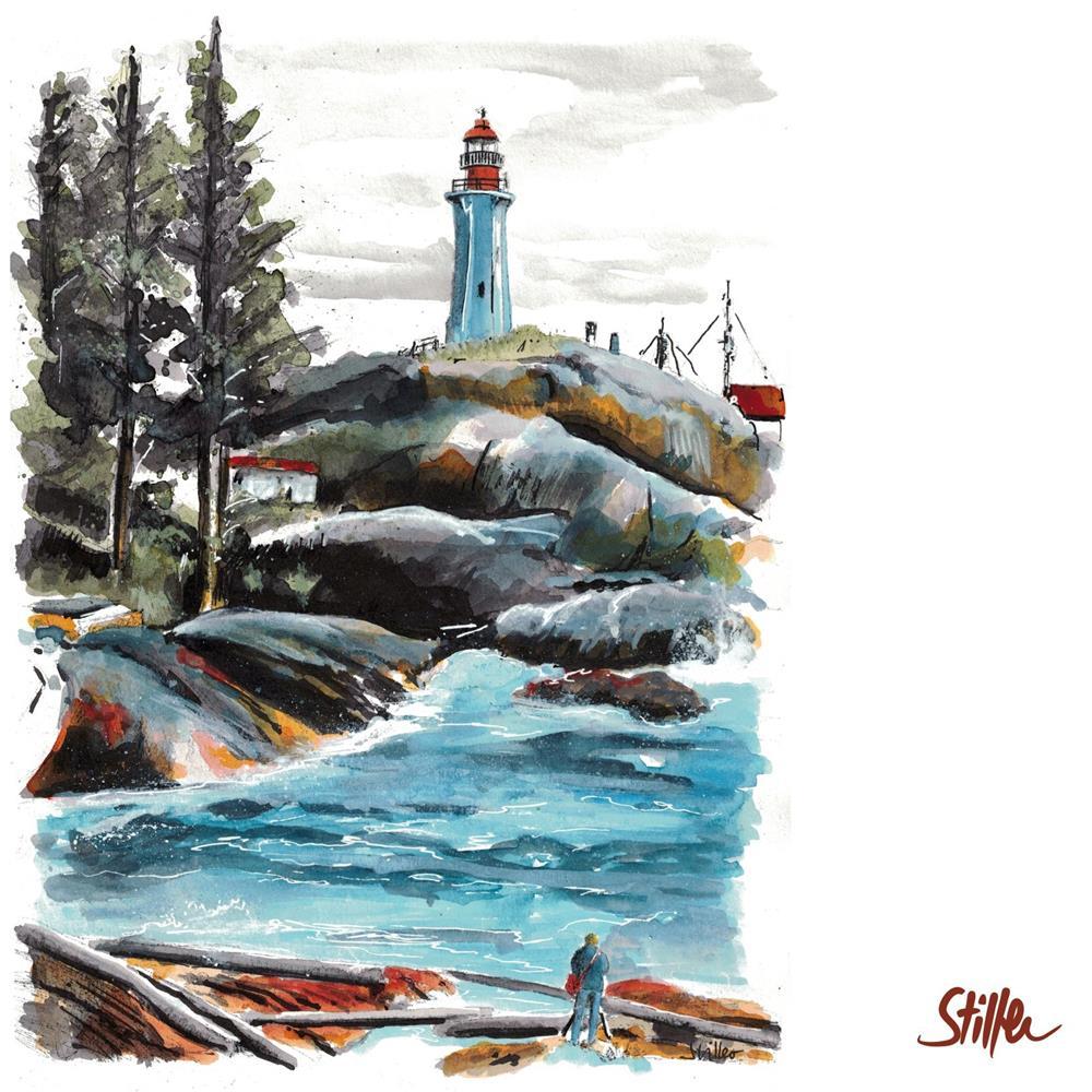 """3444 Lighthouse Park Vancouver"" original fine art by Dietmar Stiller"