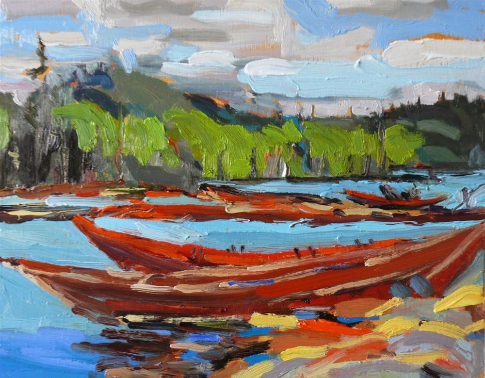 """736 Bateaux Tom Thompson Copy"" original fine art by Darlene Young"