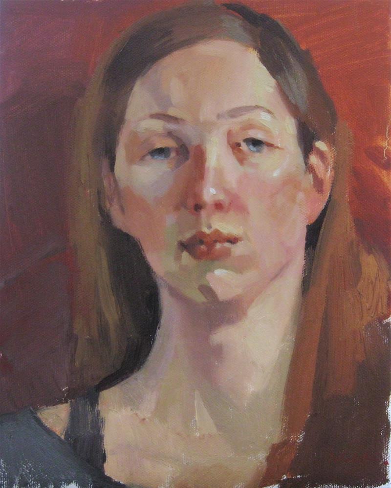 """Heavy Eyelids"" original fine art by Sarah Sedwick"
