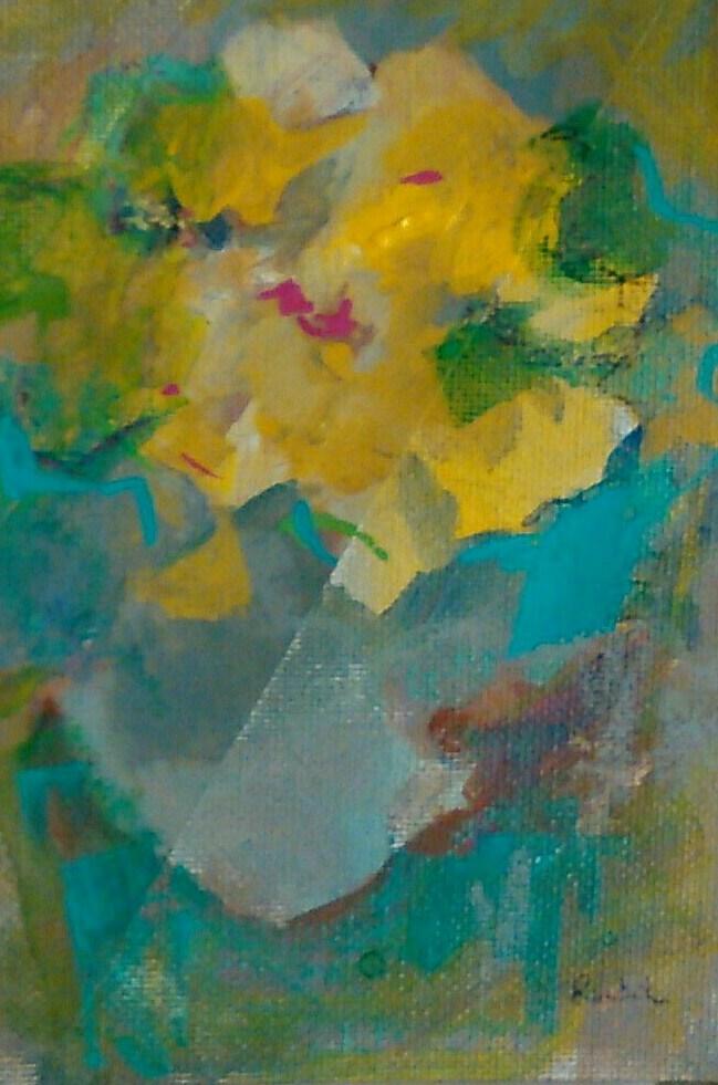 """Petals & Leaves"" original fine art by Ann Rudd"