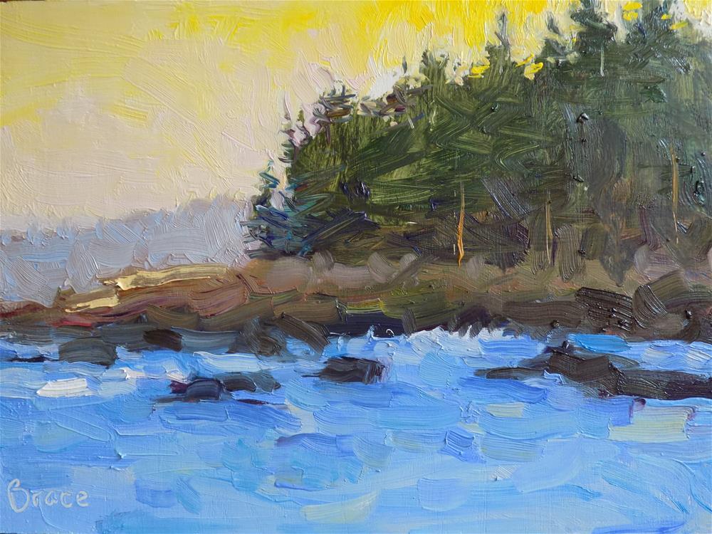 """Acadia Pines"" original fine art by Rita Brace"