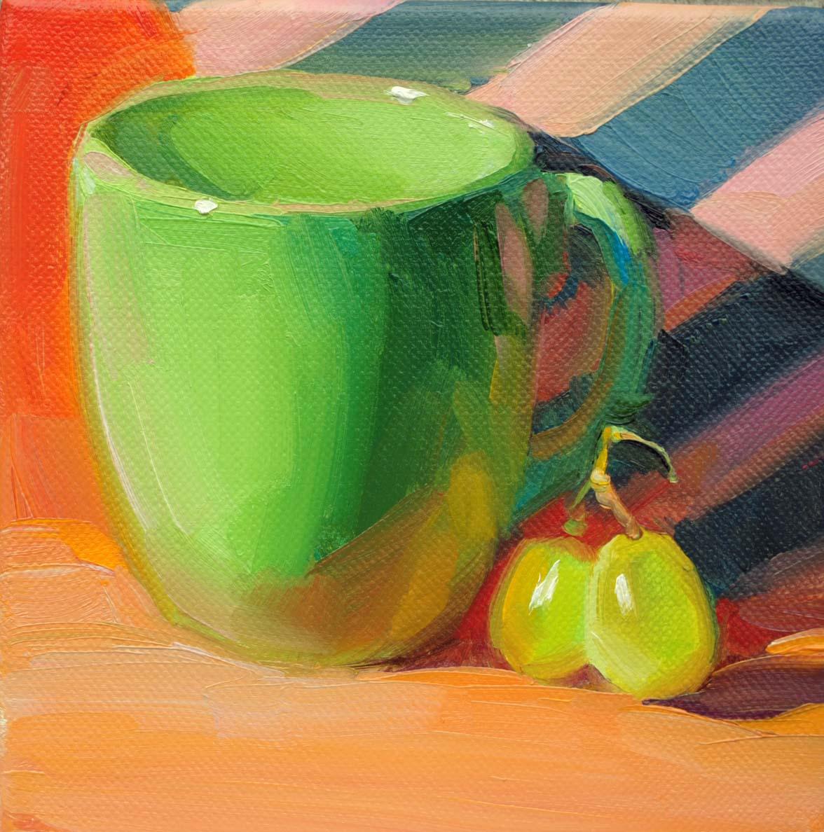 """Blue Stripes"" original fine art by Elena Katsyura"