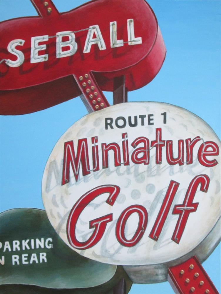 """Rt. 1 Mini Golf"" original fine art by Debbie Shirley"