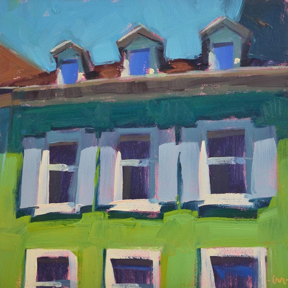 """Little Dormers"" original fine art by Carol Marine"