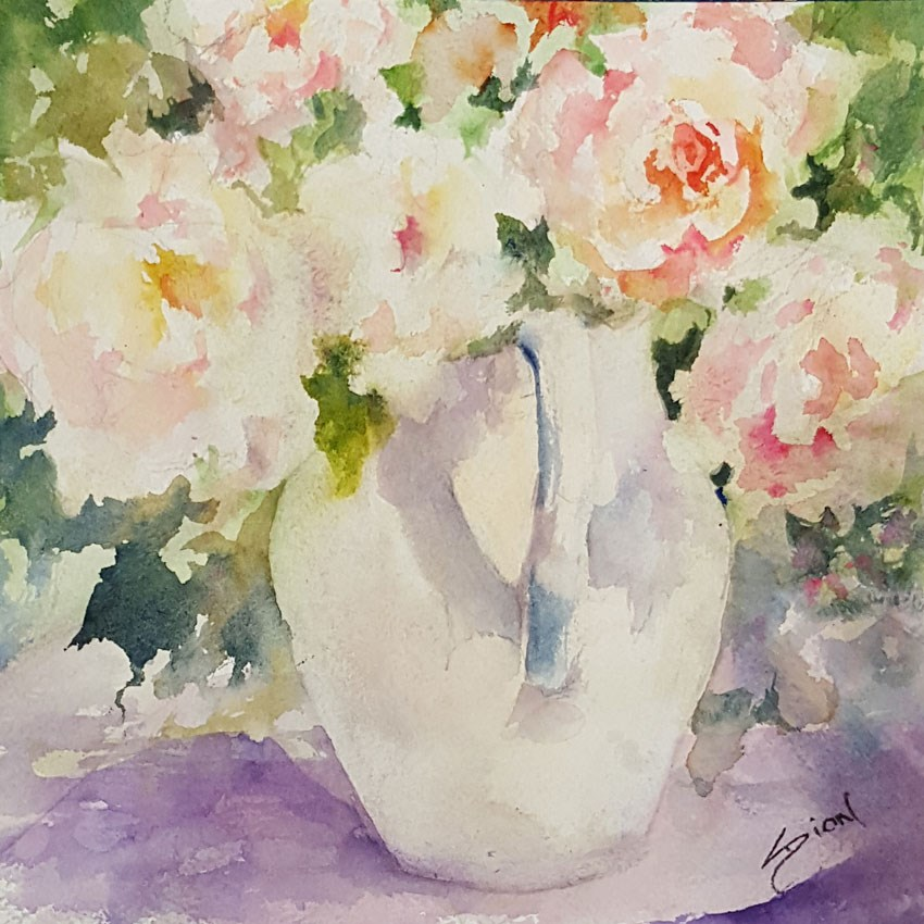 """""""Sweetness and Light"""" original fine art by Sue Dion"""