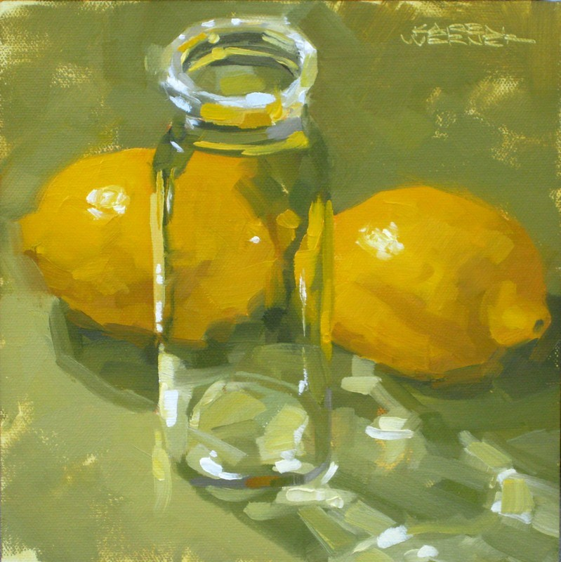 """Limber Lemons"" original fine art by Karen Werner"