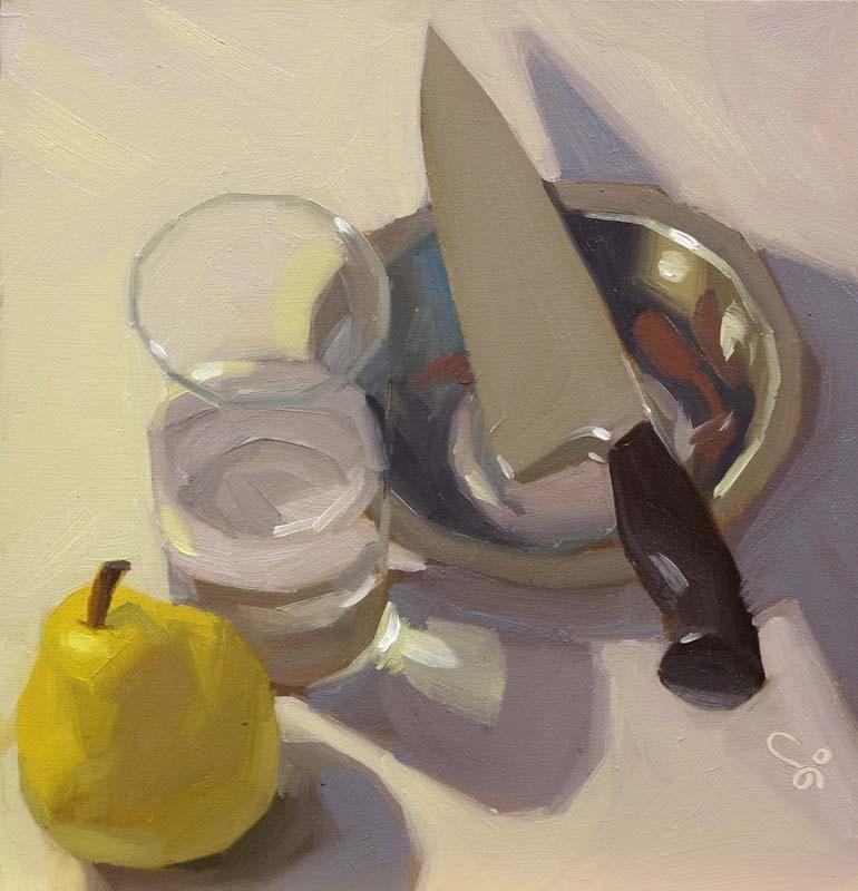 """""""Snack time"""" original fine art by Istvan Schaller"""