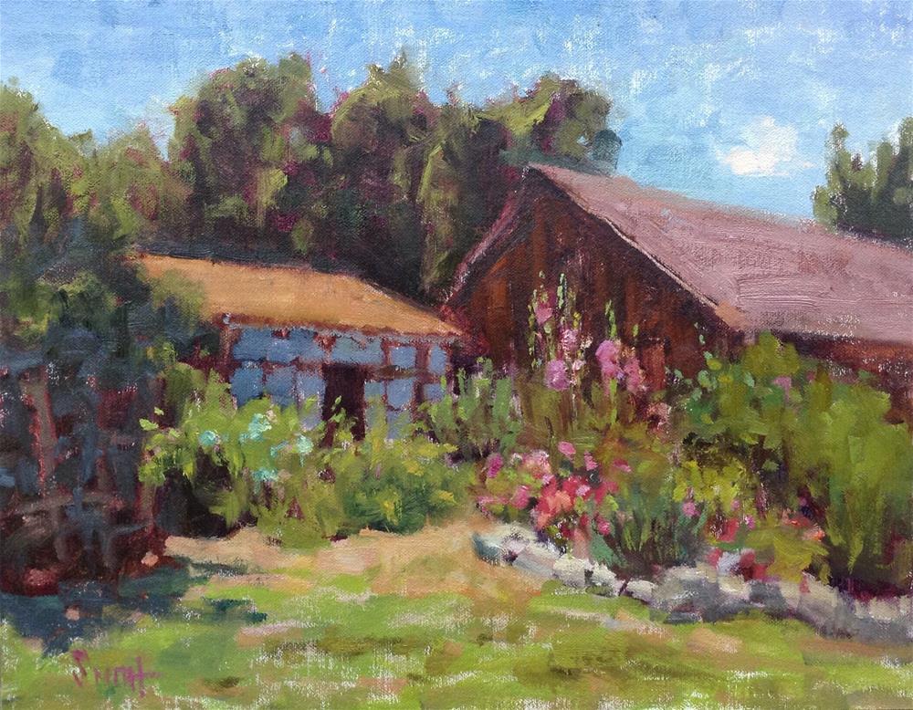 """Hidden Garden"" original fine art by Barbie Smith"