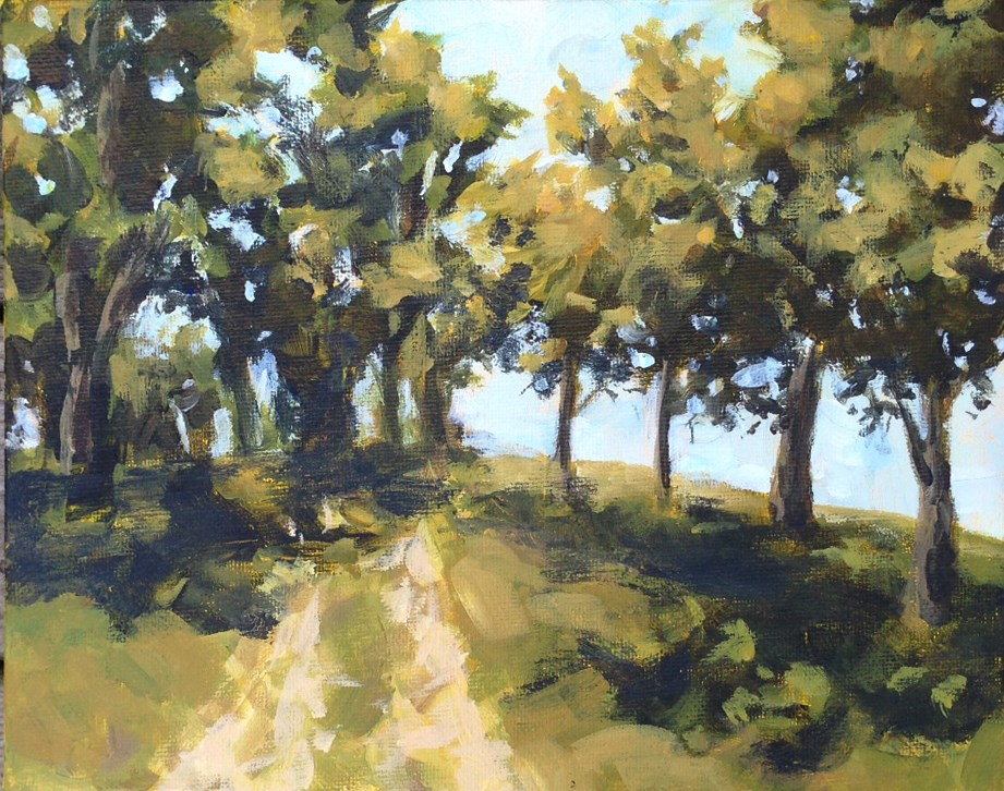"""""""Path at World's End"""" original fine art by Shannon Bauer"""