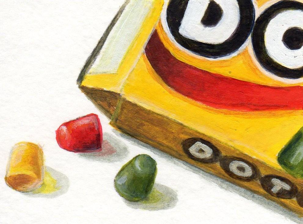"""Dots"" original fine art by Debbie Shirley"