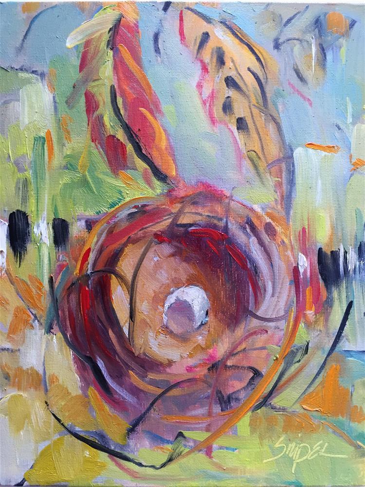 """""""Bird Nest, Day 30"""" original fine art by Connie Snipes"""