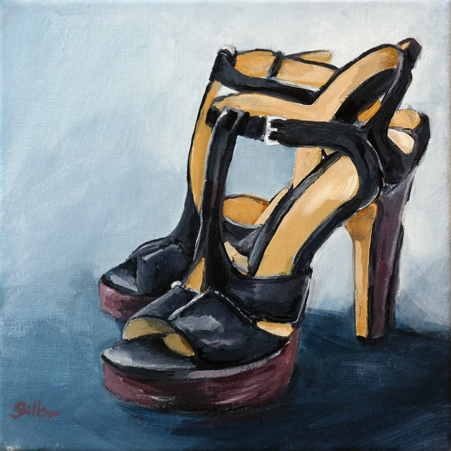 """1619 Platform Sandals"" original fine art by Dietmar Stiller"