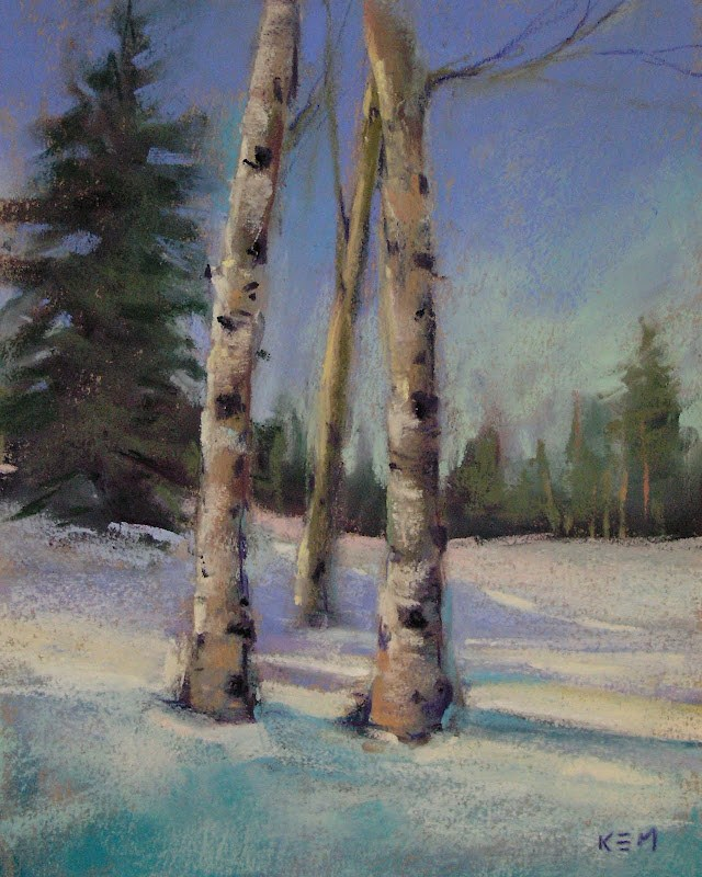 """Aspen Tree Painting Demo...4 Seasons of Aspens"" original fine art by Karen Margulis"