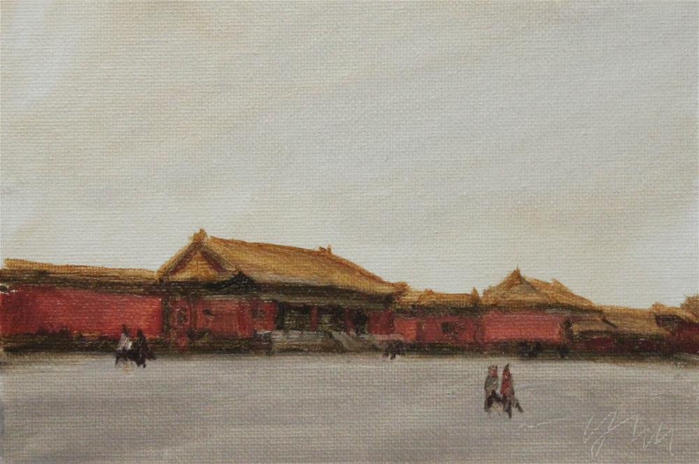 """""""beijing"""" original fine art by Yuehua He"""