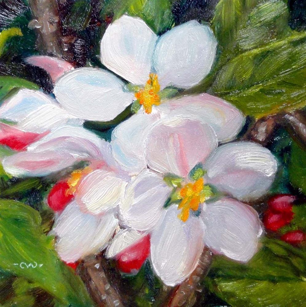 """New Blossoms"" original fine art by Cietha Wilson"