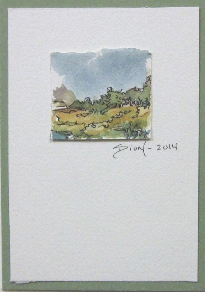 """Minature Landscape 2"" original fine art by Sue Dion"