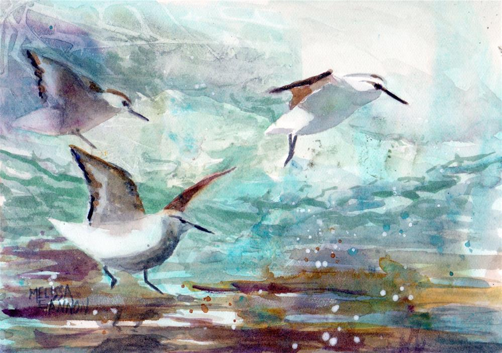 """A Day at the Beach"" original fine art by Melissa Gannon"
